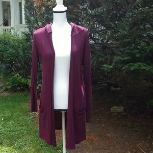 American Eagle Outfitters Hooded Cardigan Duster